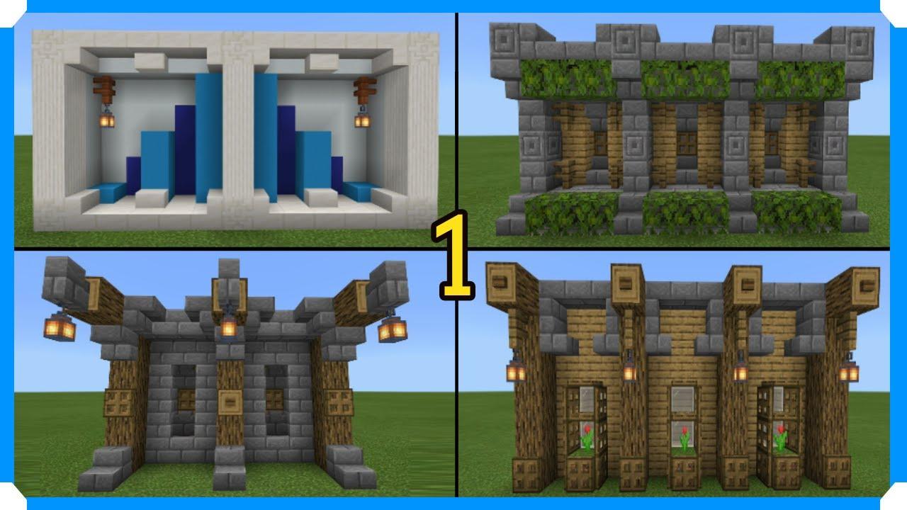 13 Minecraft Wall Designs In 130 Seconds [Minecraft Bedrock