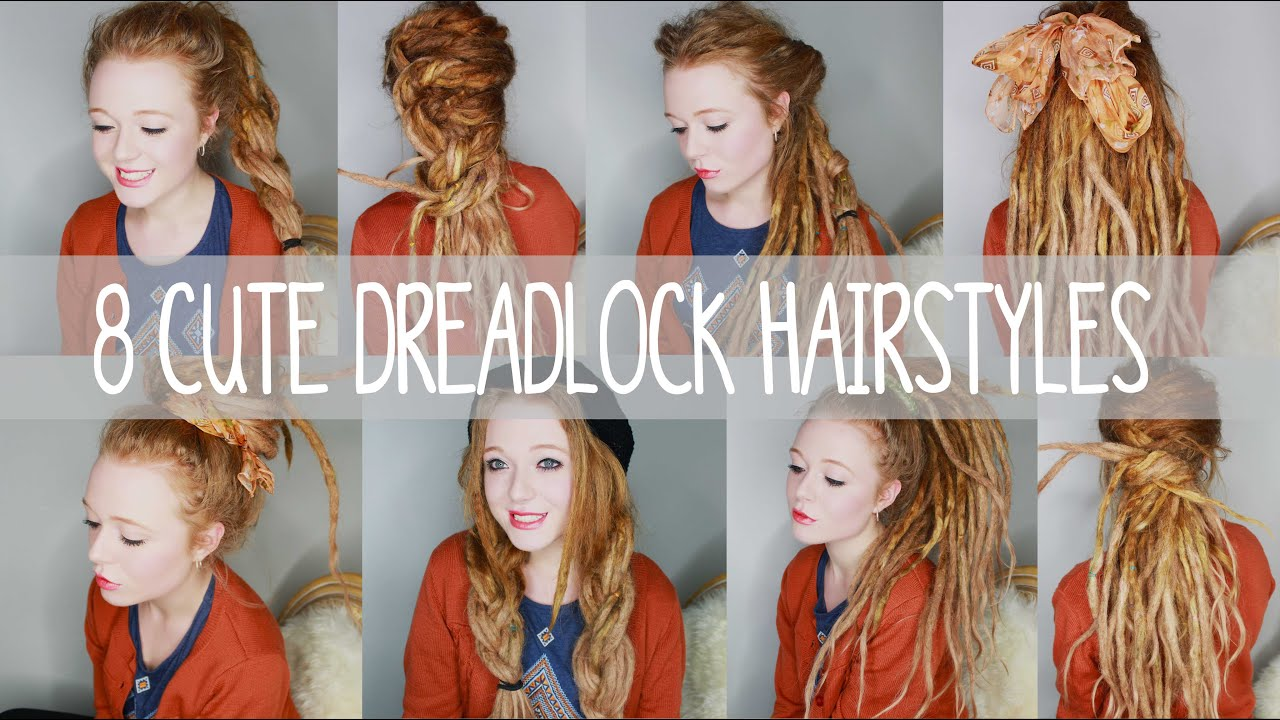 8 cute dreadlock hairstyles - youtube