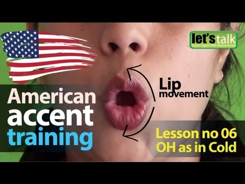 American Accent Training : Lesson 06  | Vowel sound OH | English lesson (  ESL )