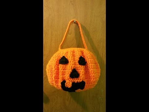 CROCHET How to #Crochet Pumpkin Halloween Candy Bucket #TUTORIAL #121 LEARN CROCHET DYI