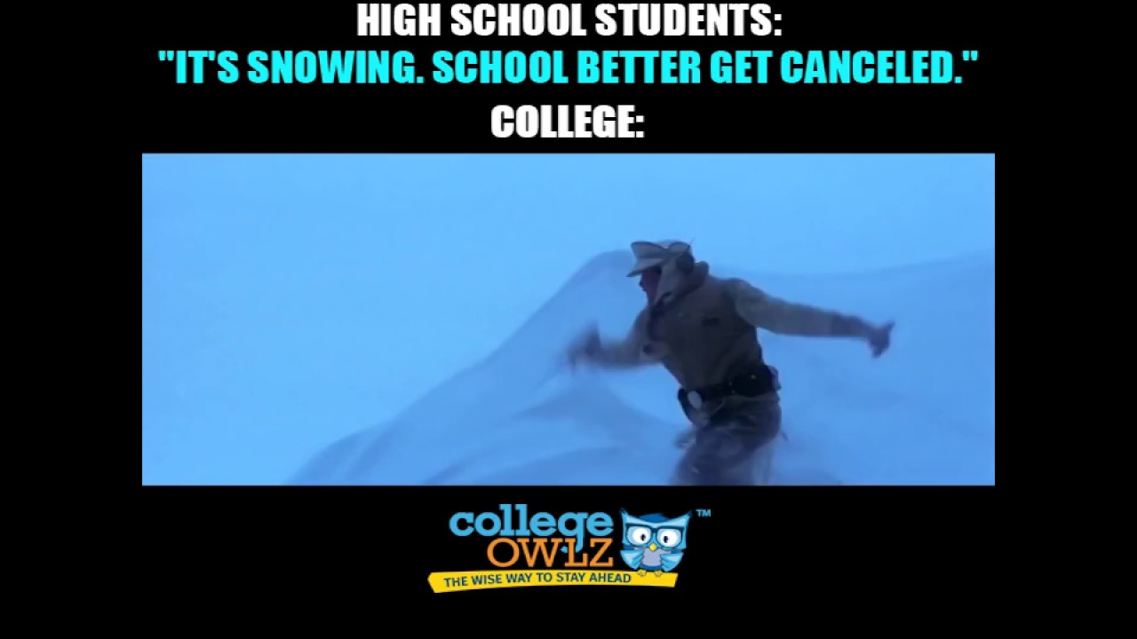 high school vs college snow days high school vs college snow days
