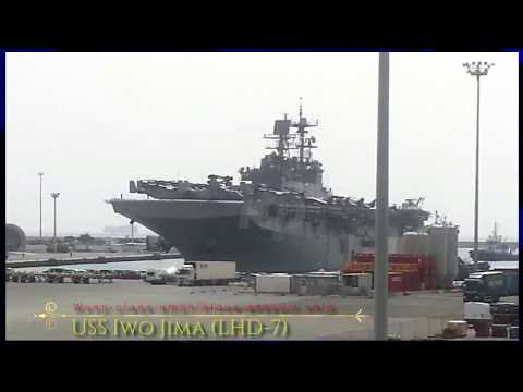 The amphibious assault ship USS Iwo Jima (LHD-7)