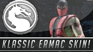 Mortal Kombat X: Klassic Ermac Skin DLC Gameplay - Fatalities, Intros & More! (Mortal Kombat 10)