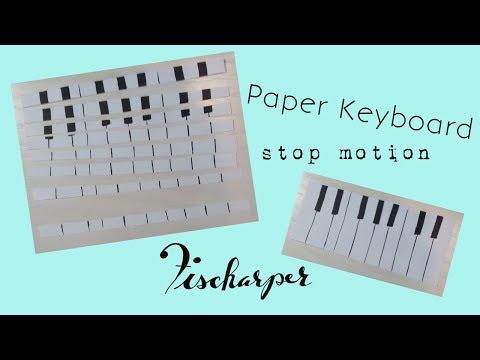 Paper Keyboard Stop Motion