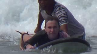 Серфинг на Бали -  мой первый урок серфинга на Бали, пляж Кута