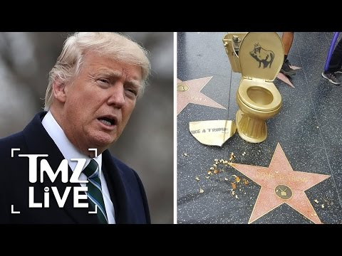 Trump's Hollywood Star Vandalized AGAIN! | TMZ Live