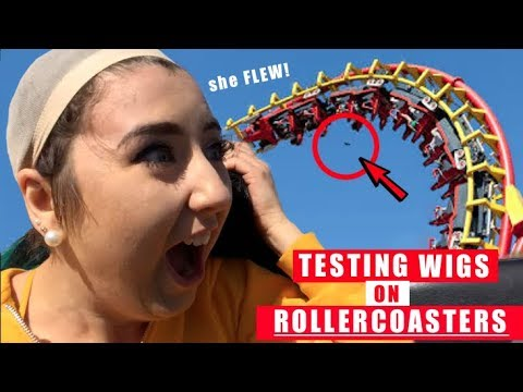 Testing Wigs on Roller Coasters *WIG LITERALLY SNATCHED*