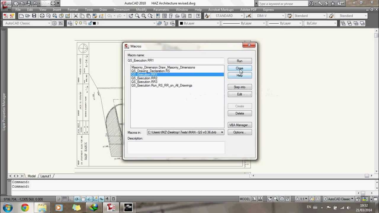 Take off Quantities from Autocad and Input into Excel