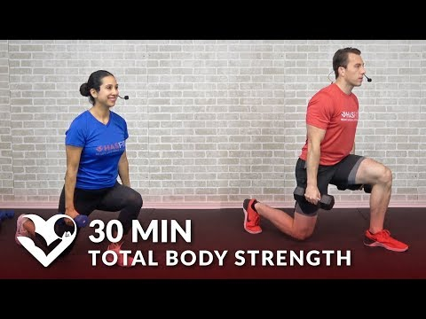 30 Minute Total Body Strength Workout at Home Full Body Workout Routine with Weights for Men Women