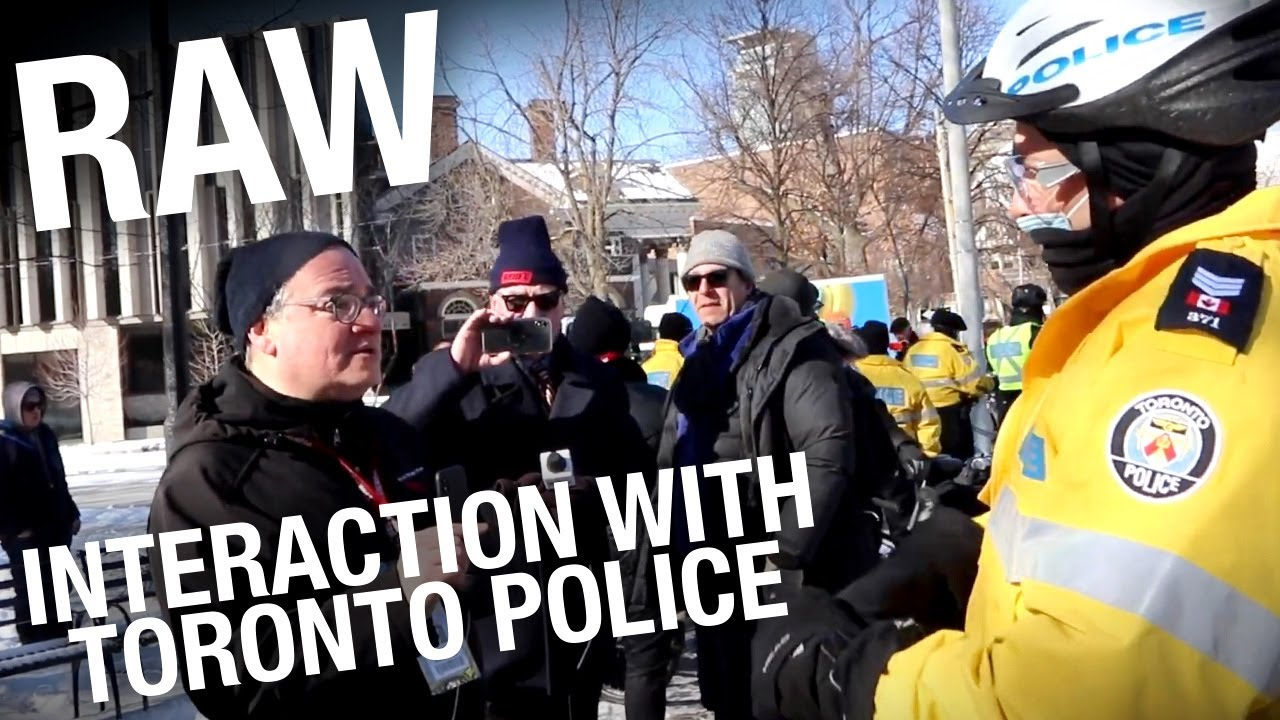 RAW FOOTAGE: Ezra Levant confronts Toronto police at lockdown protest
