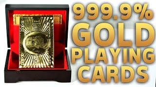 Deck Review - 24K Gold Foil Plated Leaf Playing Cards [HD]