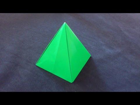 Cara Membuat Origami Limas Segi 4 | Origami Bangun Ruang
