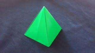 Cara Membuat Origami Limas Segi 4   Origami Bangun Ruang