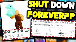 this REALLY POPULAR roblox game got SHUT DOWN randomly... why?