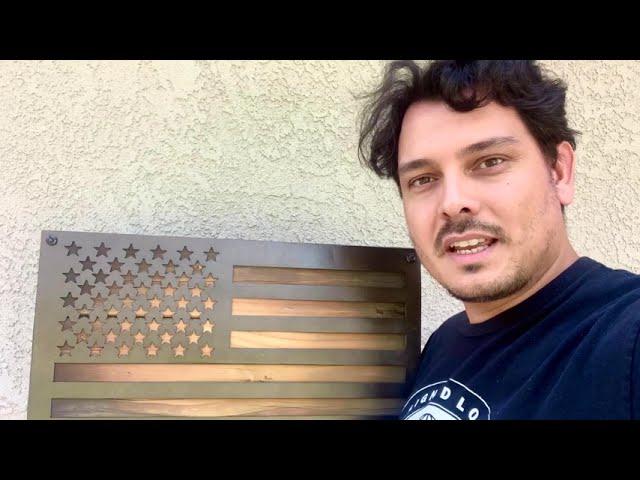 American Flag Wall Art | Wood + Steel