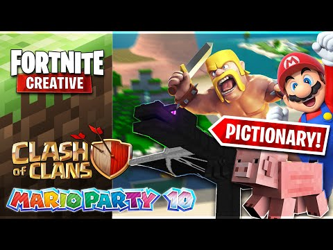 Building POPULAR Games w/ Friends in Fortnite! - Pictionary Episode 1
