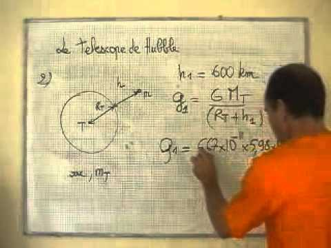 cours seconde/ ch8: la gravitation universelle/ calcul du champ de pesanteur g1 (altitude h)
