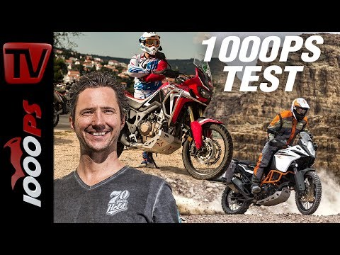 1000PS Test - Honda CRF1000L Africa Twin vs. KTM 1090 Adventure R - harte Reiseenduros im Gelände