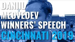 Daniil Medvedev Trophy Lift & Speech After Winning Cincinnati 2019!