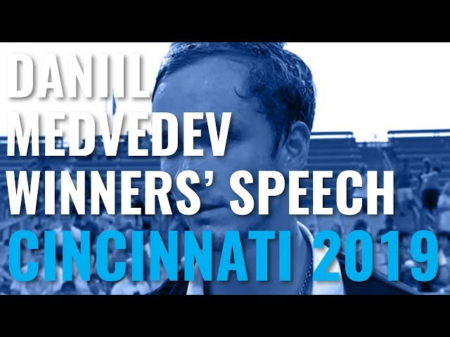 Daniil Medvedev Trophy Lift & Speech After Winning Cincinnati 2019!