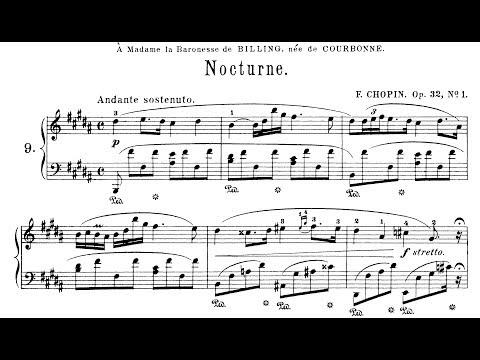 Chopin: Nocturne Op.32 No.1 in B Major (Moravec)
