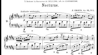 Chopin: Nocturne Op.32 No.1 in B Major (Moravec)