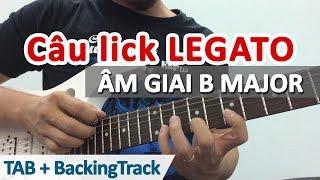 Câu lick Legato cực hay âm giai Si trưởng   Học guitar online - Học đàn guitar   HocDanGhiTa.Net