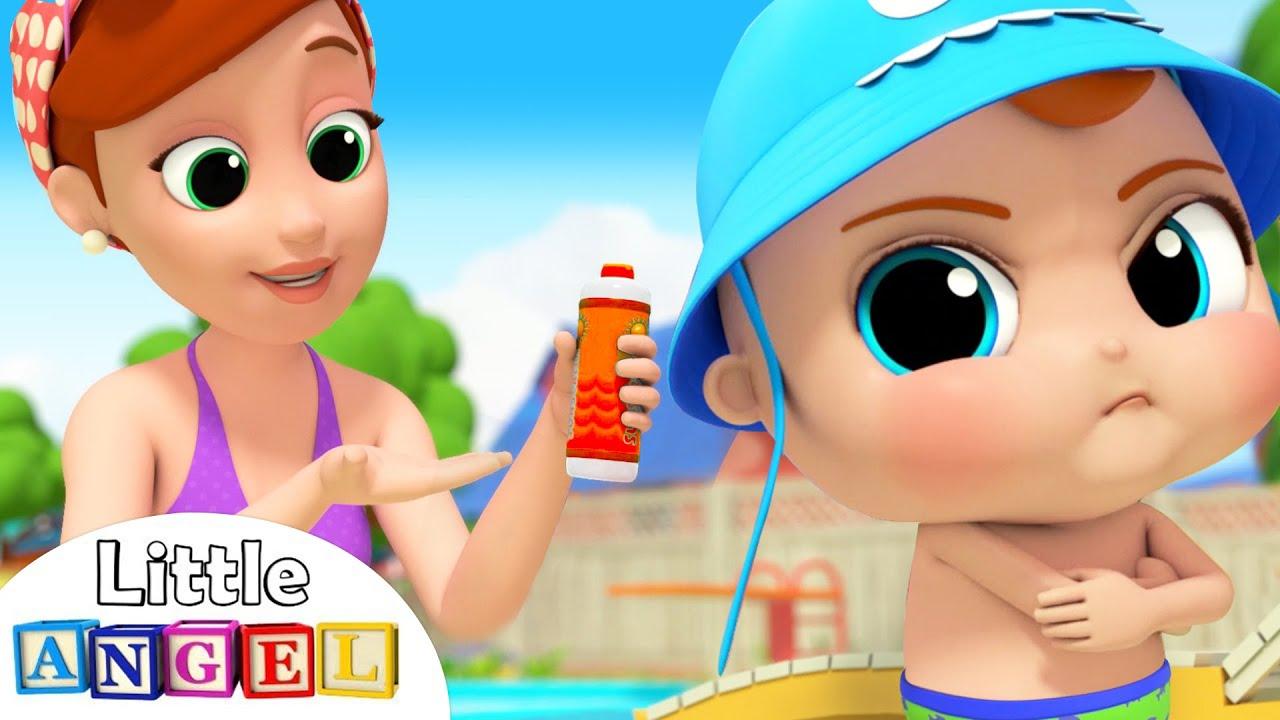 No No Swimming Song | Little Angel Kids Songs & Nursery Rhymes
