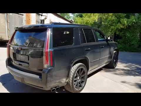Разводка выхлопной системы на Cadillac Escalade