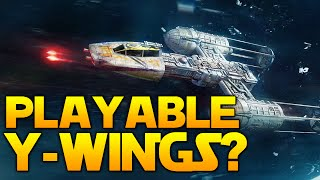 Star Wars Battlefront News: PLAYABLE Y WINGS?