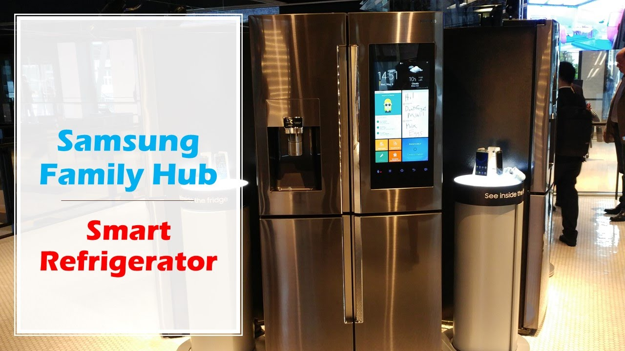 Samsung family hub smart refrigerator i want one youtube rubansaba