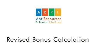 Revised Bonus Calculation