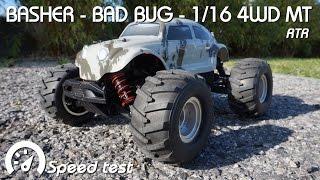 • BASHER - BAD BUG 1/16 MT RTR - Speed test •
