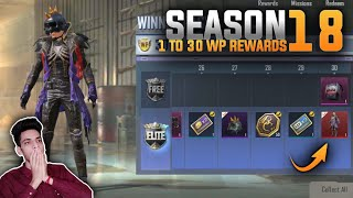 PUBG MOBILE LITE - SEASON 18 WINNER PASS ALL REWARDS LEAKS