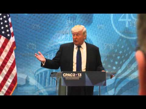 Donald Trump CPAC 2013 Press Conference