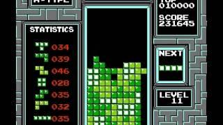 Tetris (nintendo) - Tetris- High Score NES 496,000 - User video