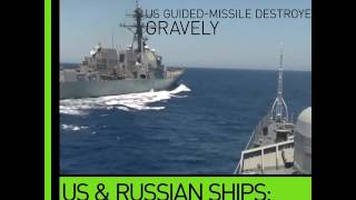 Video Dangerous Proximity: Russian frigate 'shadows' US guided-missile destroyer download MP3, 3GP, MP4, WEBM, AVI, FLV November 2017