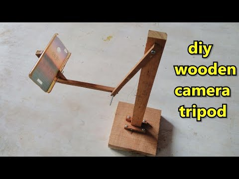 DIY Wooden stick mobile Tripod making at home
