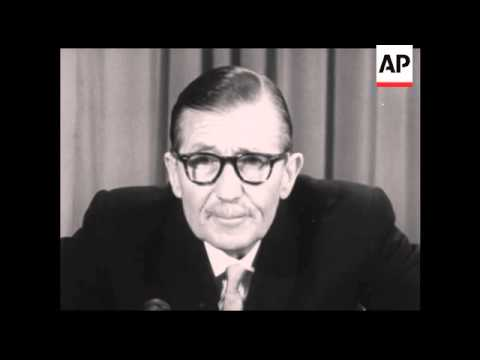 CAN980 RHODESIAN GOVERNMENT ADMINISTRATOR CLIFFORD DUPONT TELEVISION ADDRESS