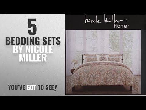 Top 10 Nicole Miller Bedding Sets [2018]: Nicole Miller Bedding Duvet Cover Set King 3 Pc Set