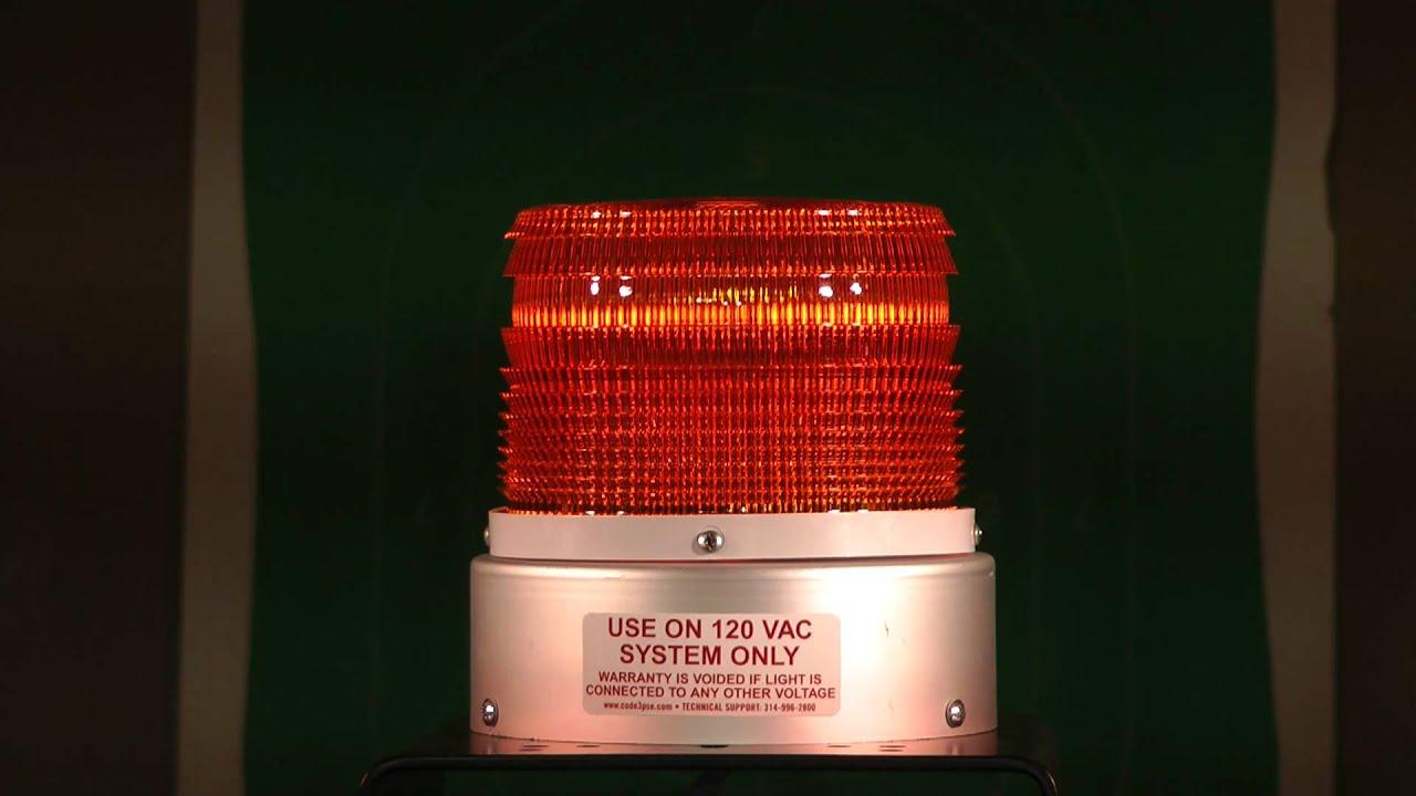 88 Flashes p//Minute 110 Volt Strobe Light Permanent Mount