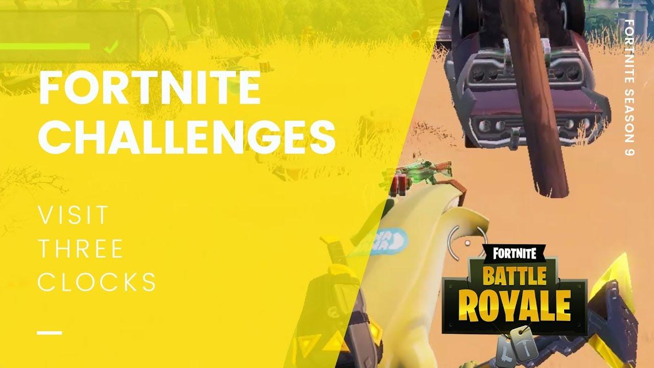 Fortnite Visit Different Clock Challenge Fortnite Season 9 Guide Visit 3 Different Clocks Updated Cultured Vultures