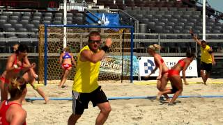 Highlights from day four of the 2013 European Beach Handball Championships
