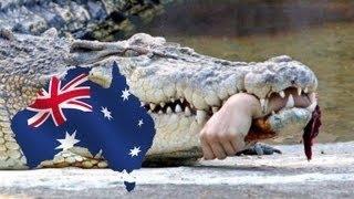 Крокодил съел очередного купальщика в Австралии(Огромный крокодил сожрал 24-летнего австралийца прямо на глазах у его друзей. Дело было в Северных территори..., 2015-02-28T16:38:05.000Z)