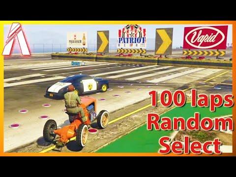 Случайности! Random Select 100 laps (FiveM 19.09.2020)