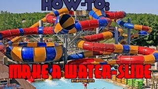 How to make a fun Water Slide in Minecraft