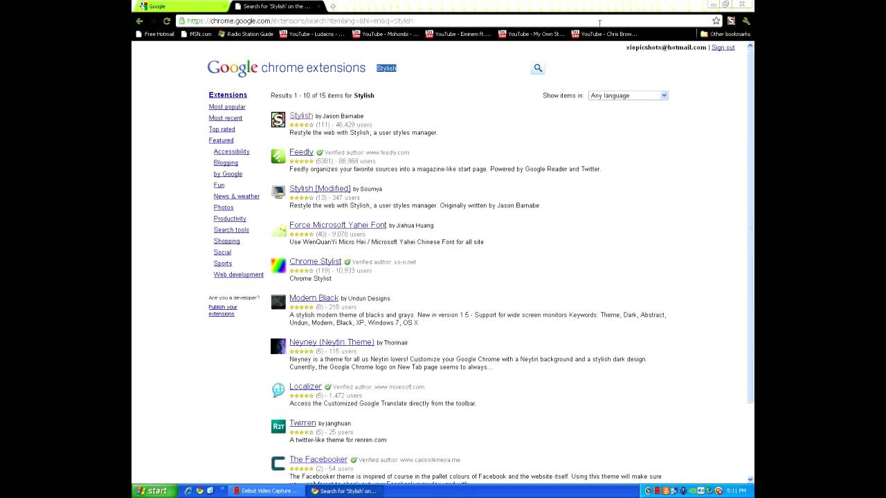 User styles google chrome themes - How To Change Your Google Chrome Style Facebook Google Youtube Etc