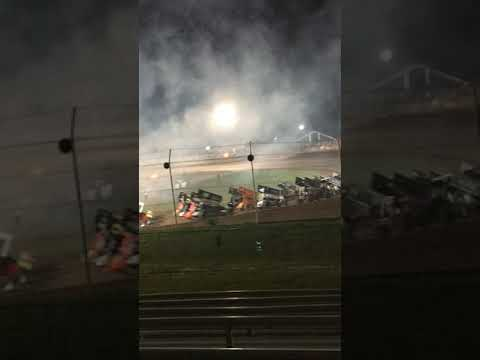 Cedar Lake Speedway 2019  4 Wide Salute Jerry Richert Memorial