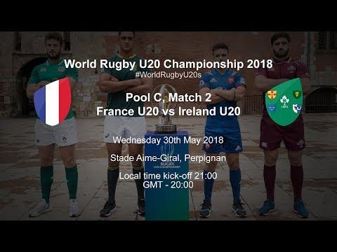 Live: World Rugby U20 Championship - France U20 V Ireland U20