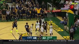 West Virginia vs Baylor Men's Basketball Highlights